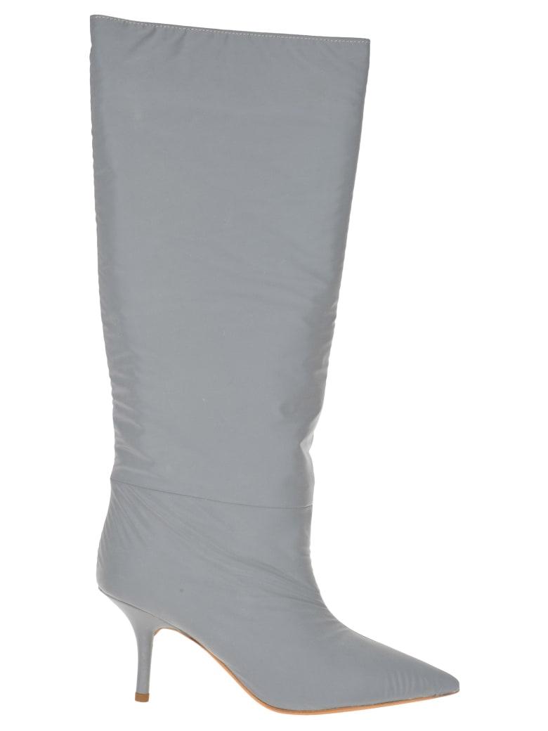 Yeezy Kanye West Yeezy Reflective Knee High Boots - SILVER