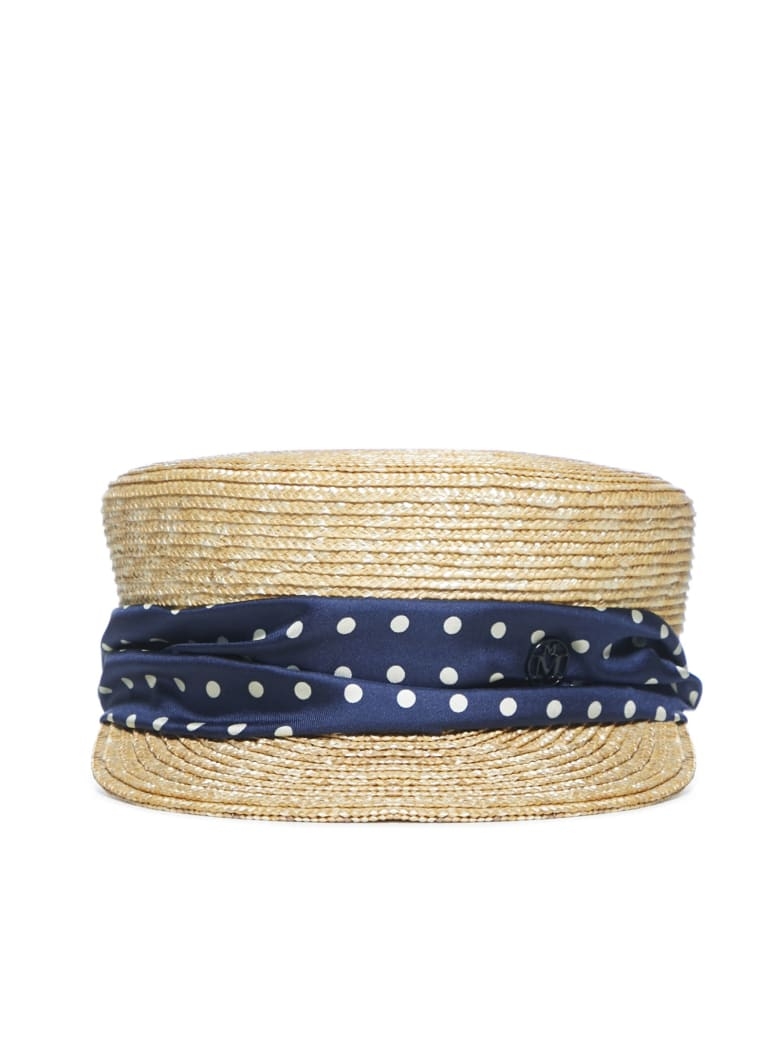 Maison Michel Abby Hat - Natural navy
