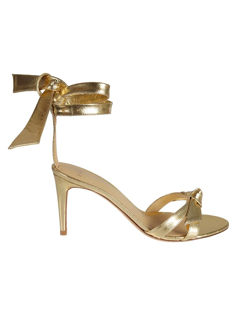 Alexandre Birman Wrap Tie Heeled Sandals - Golden