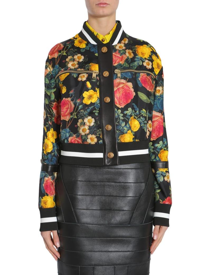 Fausto Puglisi Floral Print Bomber Jacket - MULTICOLOR