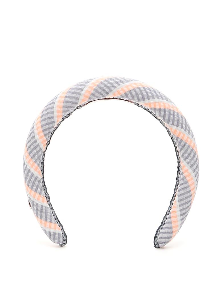 Flapper Striped Odette Headband - SUNSET PINK (Blue)