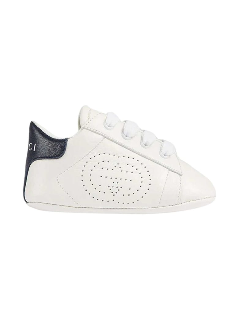 Gucci Sneakers White Gg Ace - Bianco/blu