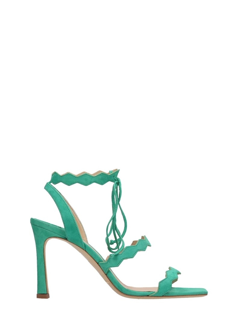 The Seller Green Suede Sandals - green
