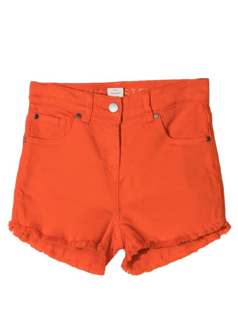 Stella McCartney Orange Stretch Cotton Shorts - Arancio