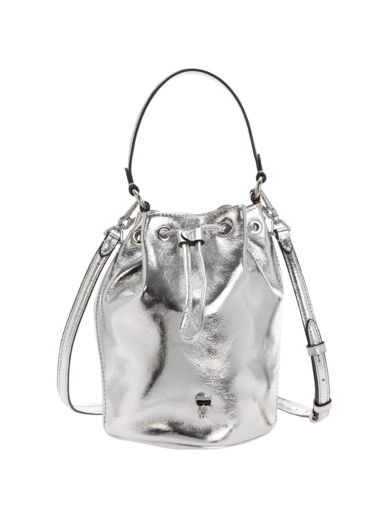 Karl Lagerfeld K/ikonik 3d Shoulder Bag - Silver