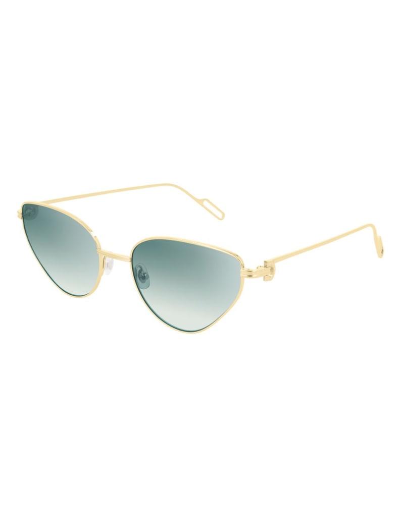 Cartier Eyewear CT0155S Sunglasses - Gold Gold Green