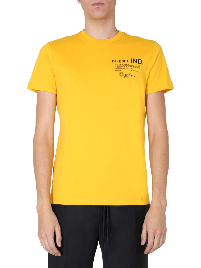 Diesel Crew Neck T-shirt - GIALLO