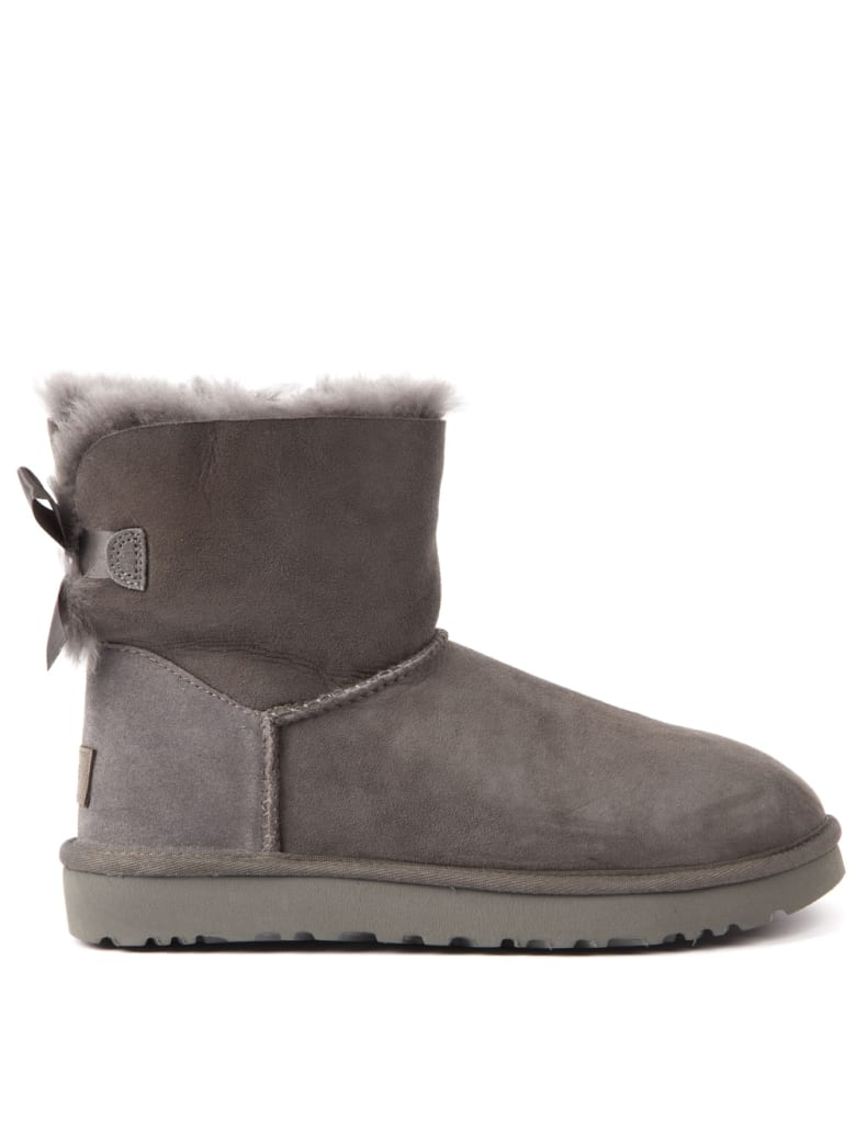 UGG Mini Bailey Grey Suede Ankle Boots - Grey