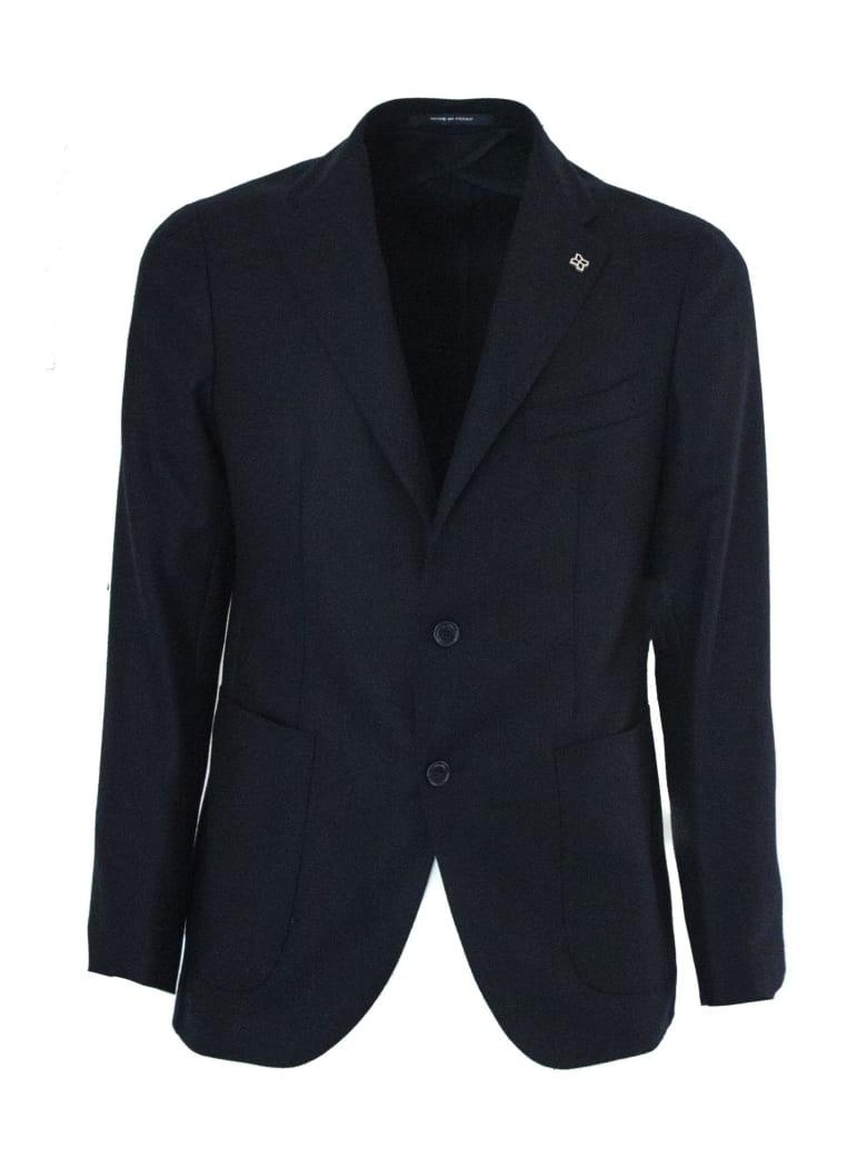 Tagliatore Dark Blue Wool And Cashmere Jacket. - Blu