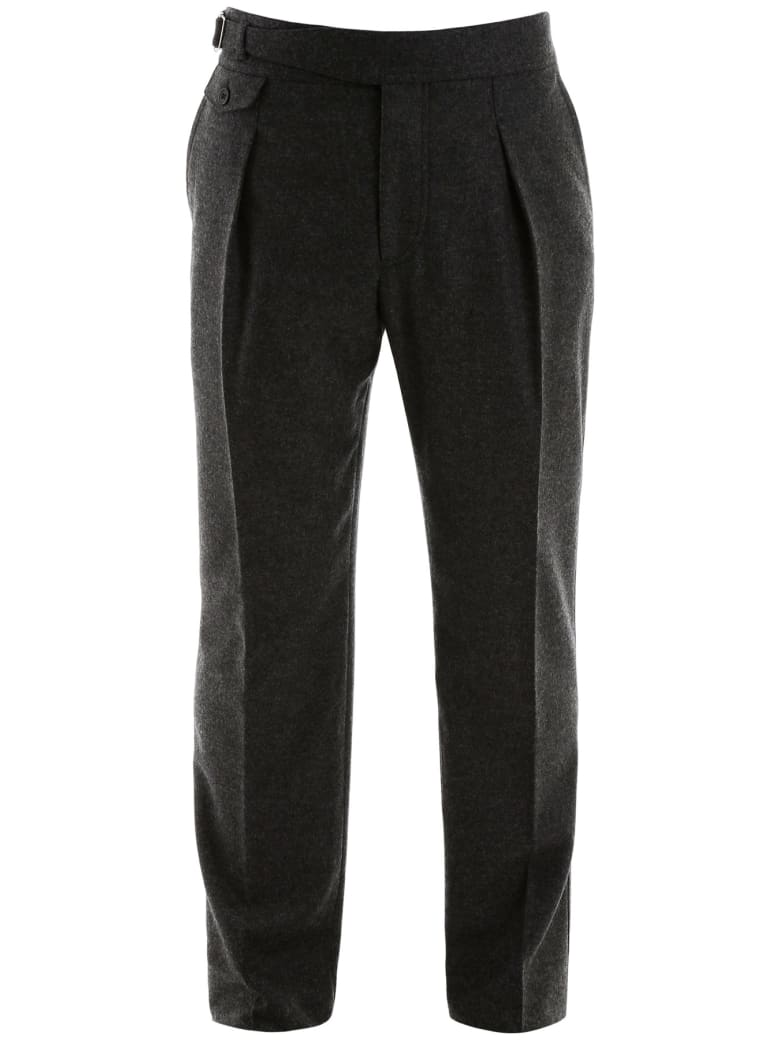 Alexander McQueen Flannel Trousers - Charcoal