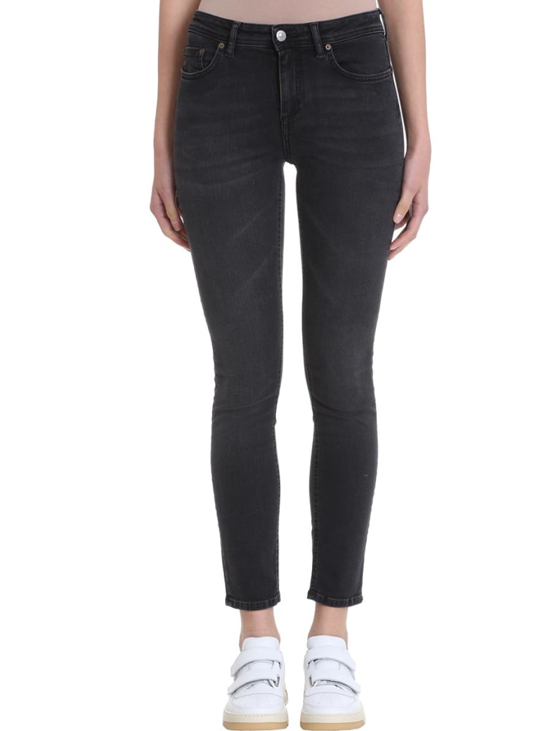 Acne Studios Climb Used Black Denim Jeans - black
