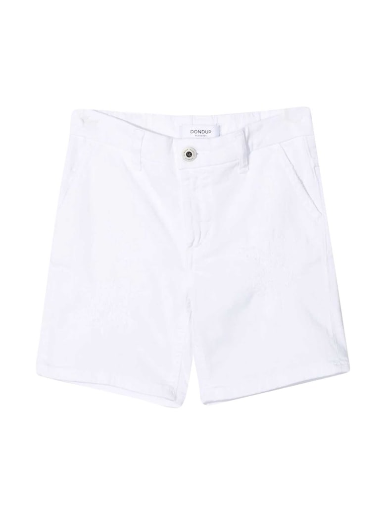 Dondup White Denim Bermuda Shorts