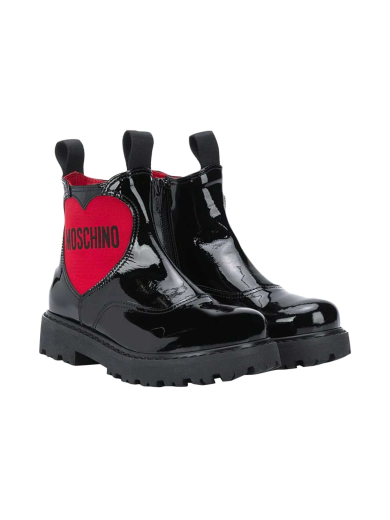 Moschino Black Teen Ankle Boots - Nero