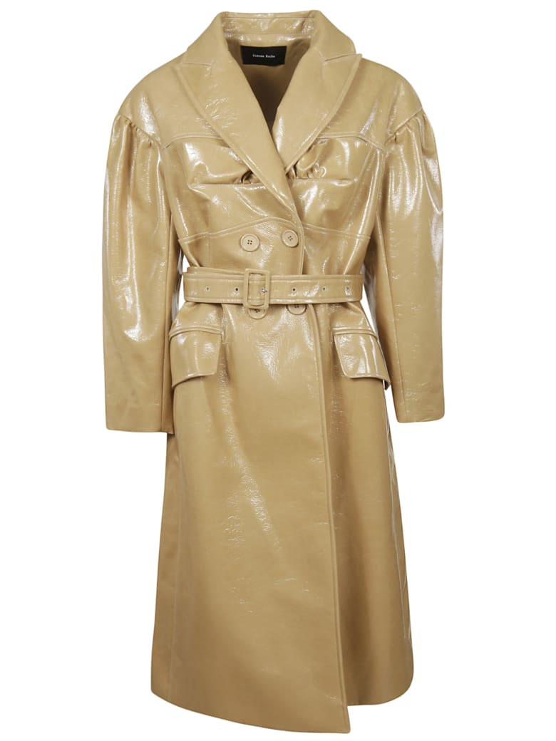 Simone Rocha Double Breasted Coat - Tan