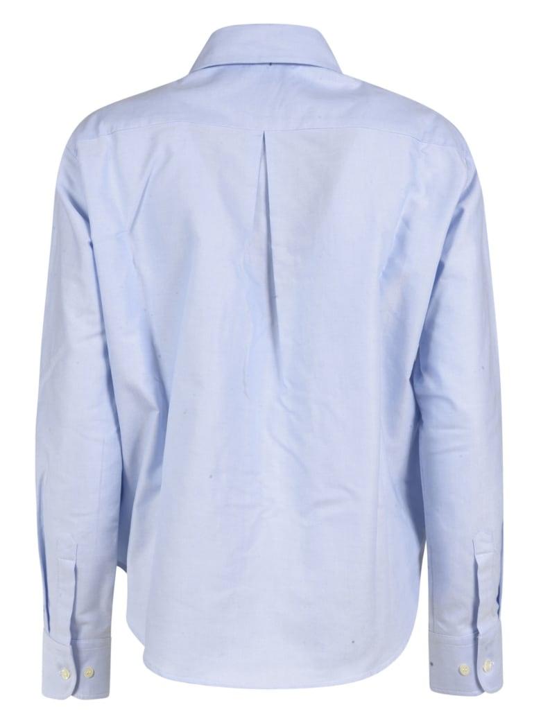 Jejia Long Ruffled Detail Shirt - Light Blue