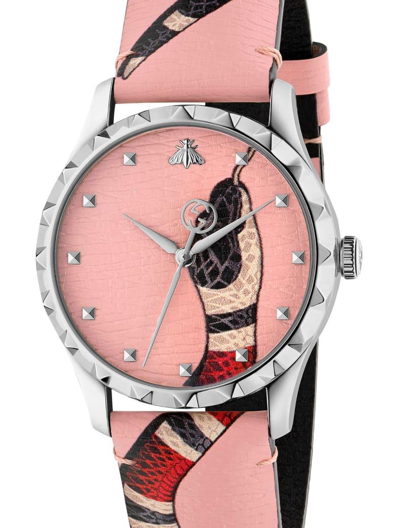 Gucci 'g-timeless Garden Le Marchè De Merveilles' Watch - Pink