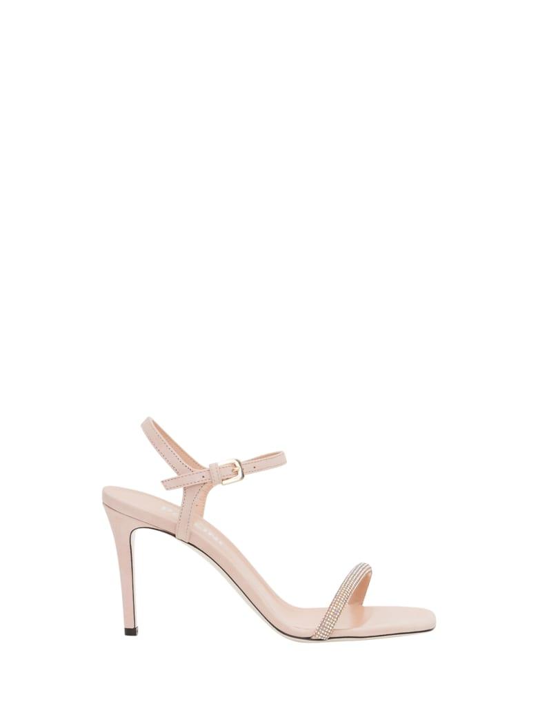 Pollini Sandal With Swarosky Embellishment - Beige