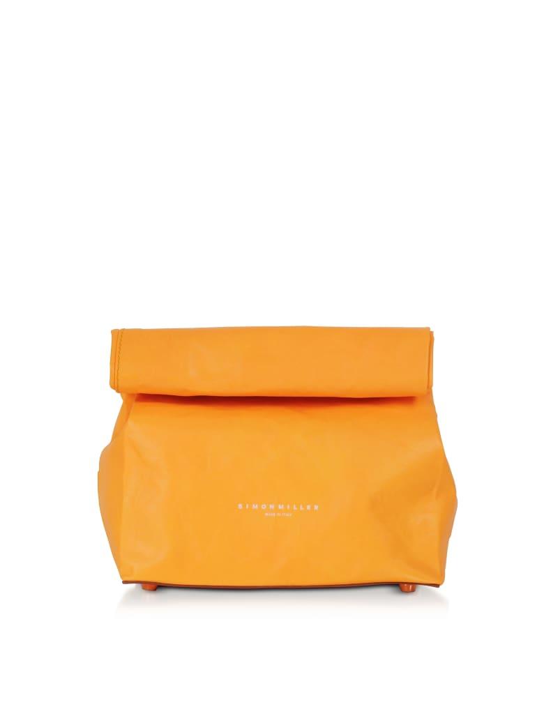 Simon Miller S809 Leather 20 Cm Lunch Bag - Golden Orange
