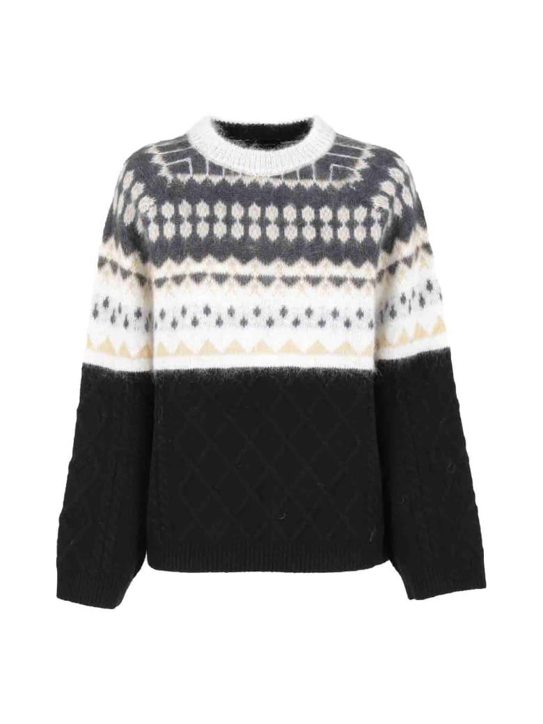 Roberto Collina Sweater - Nero Giallo