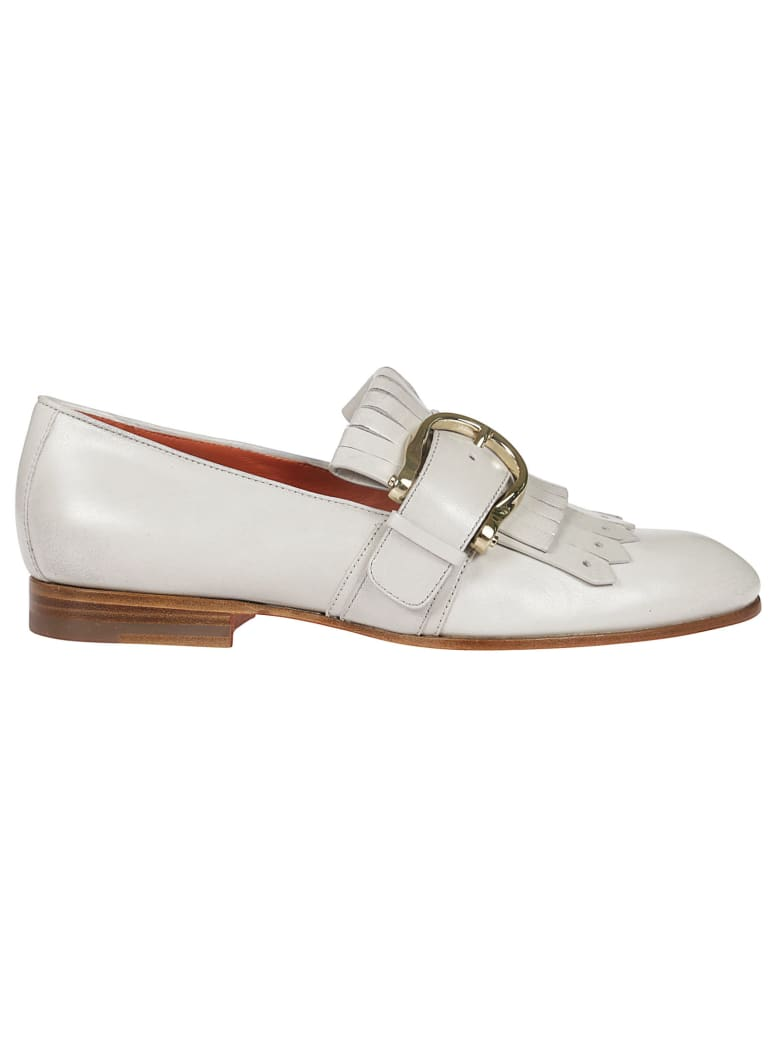 Santoni Buckled Loafers - White