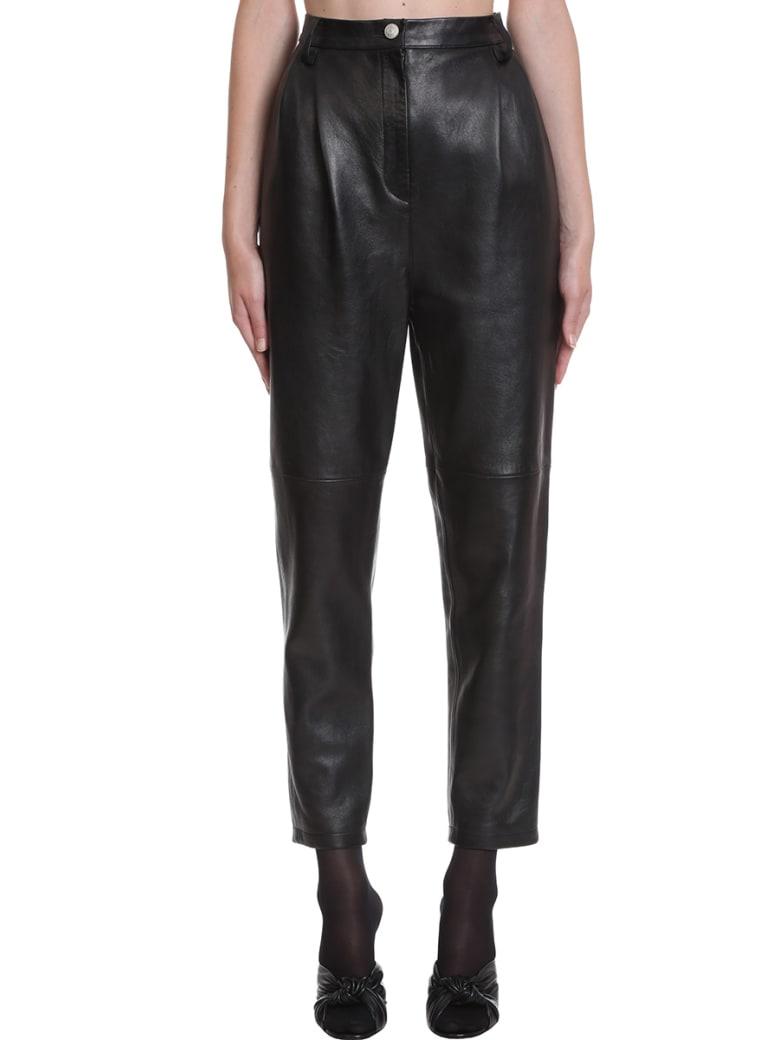 Magda Butrym Pants In Black Leather - black