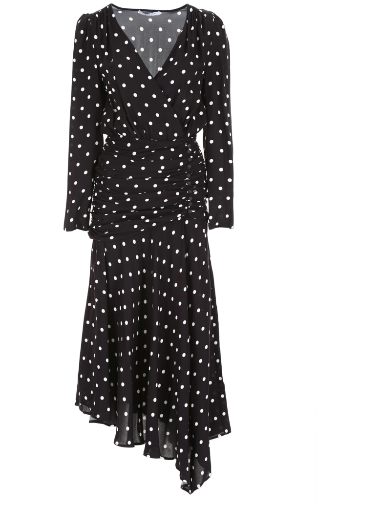 Vivetta Polka Dots Dress - BLACK WHITE (Black)