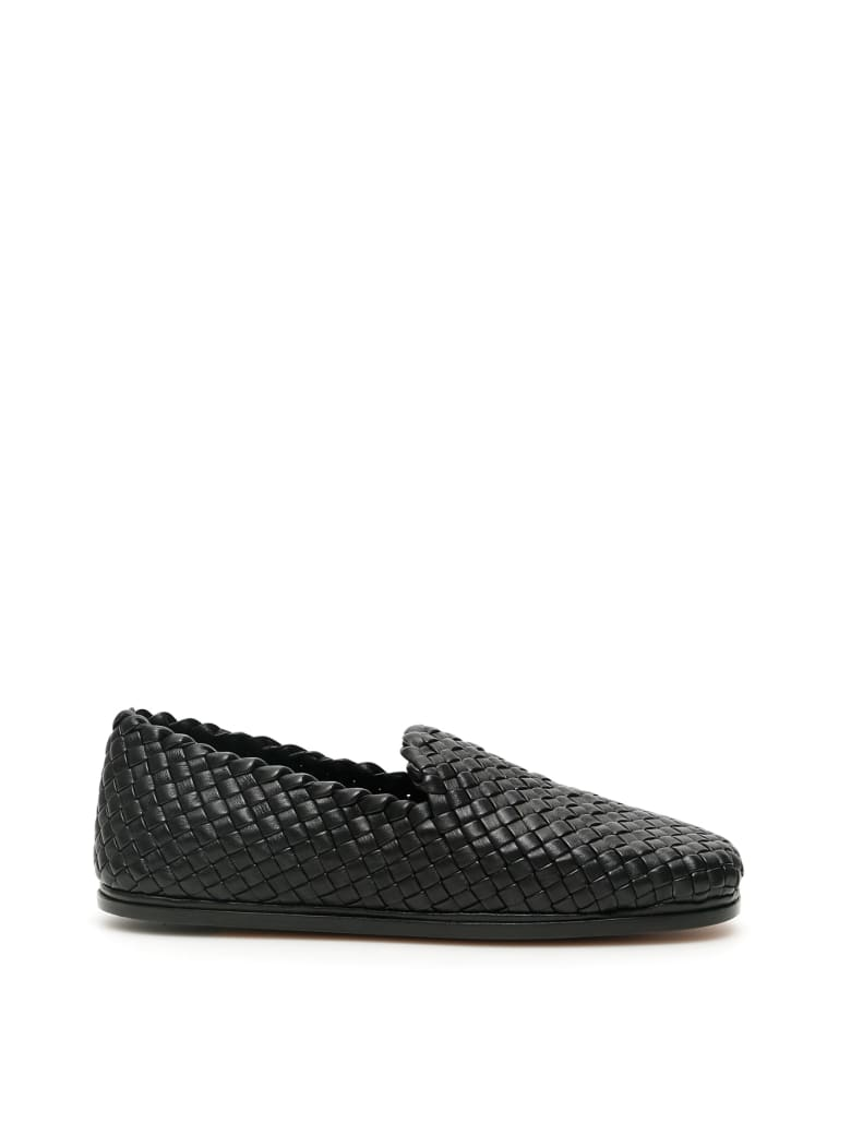 Bottega Veneta Intreccio Loafers - NERO (Black)