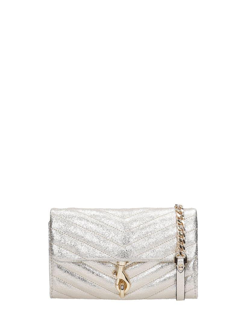 Rebecca Minkoff Edie Wallet On  Shoulder Bag In Gold Leather - gold