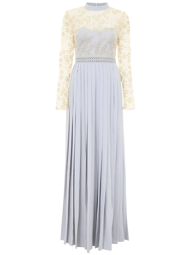 Best Price On The Market At Italist Self Portrait Self Portrait Maxi Dress With Lace And Pearls