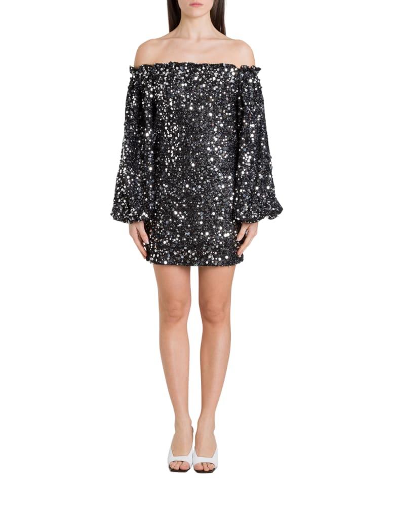Rotate by Birger Christensen Gloria Sequinned Mini Dress - Nero