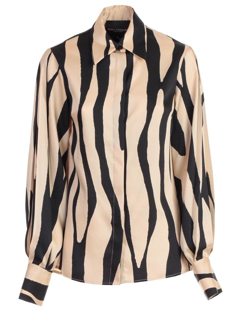 SEMICOUTURE Shirt Vicky Zebra Fantasy - Zbr B Zebra Crema