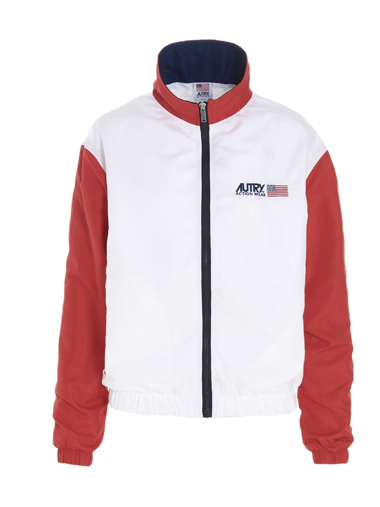 Autry Jacket - WHITE/RED