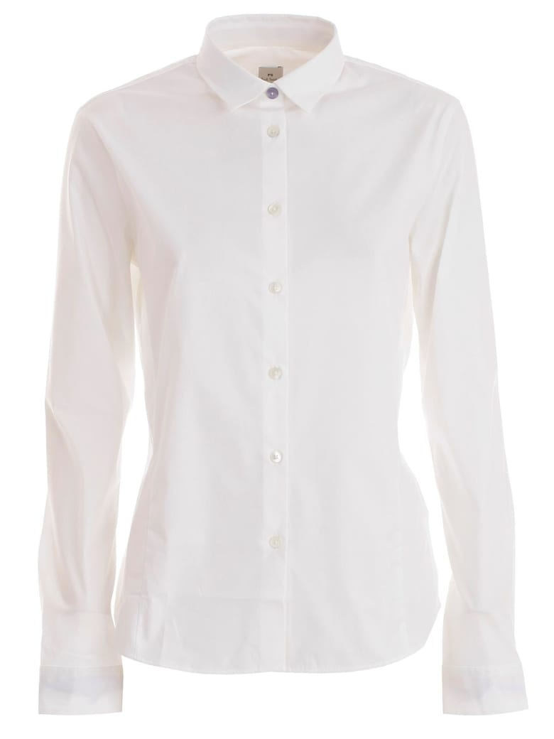 PS by Paul Smith Curved Hem Shirt - White