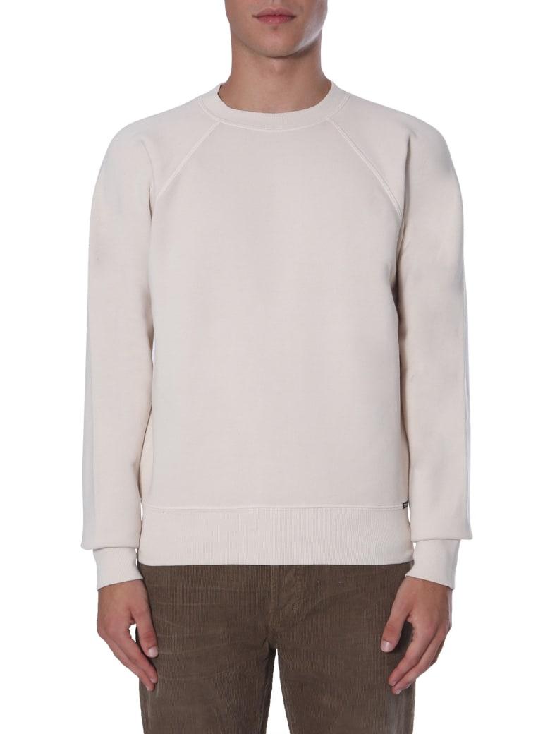 Tom Ford Crew Neck Sweatshirt - AVORIO