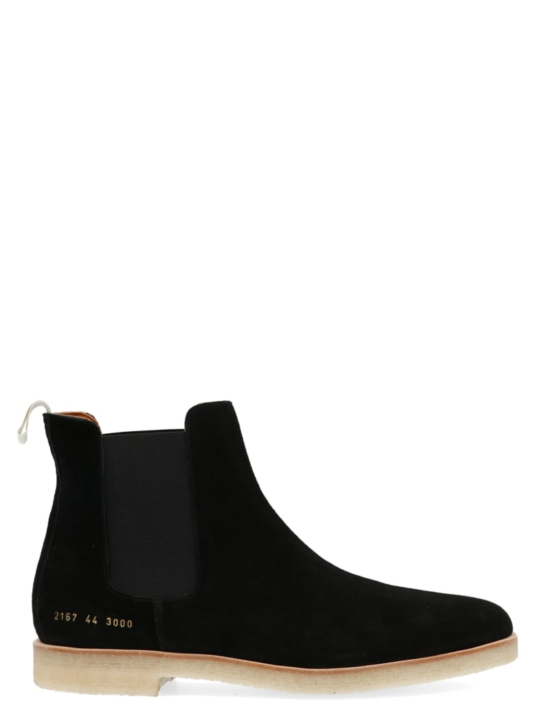 Common Projects 'chelsea' Shoes - Black