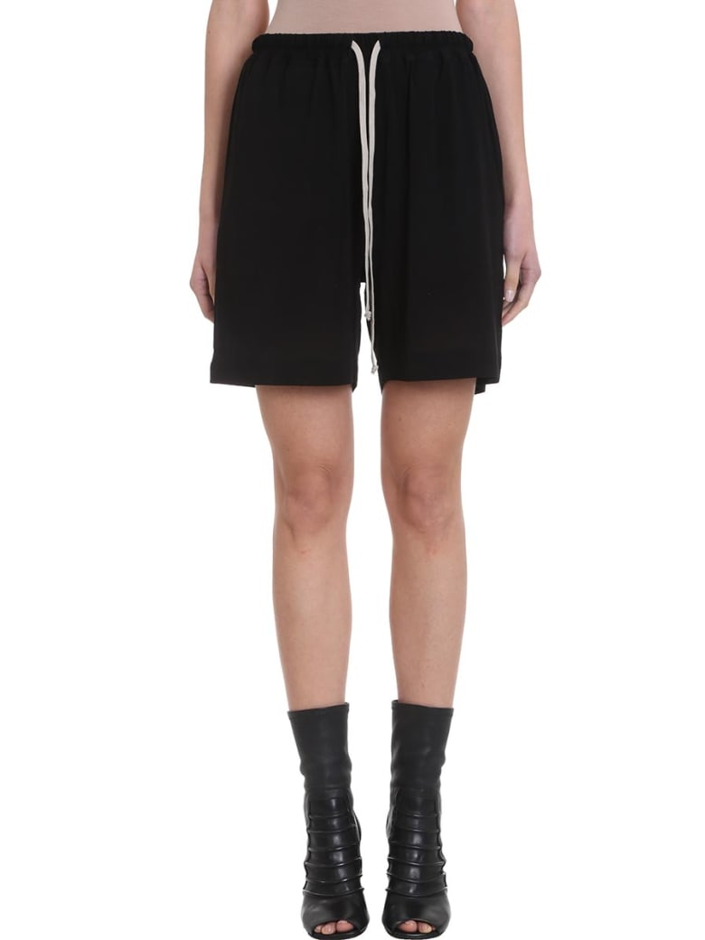 Rick Owens Boxer Relaxed-fit Viscose Shorts - black