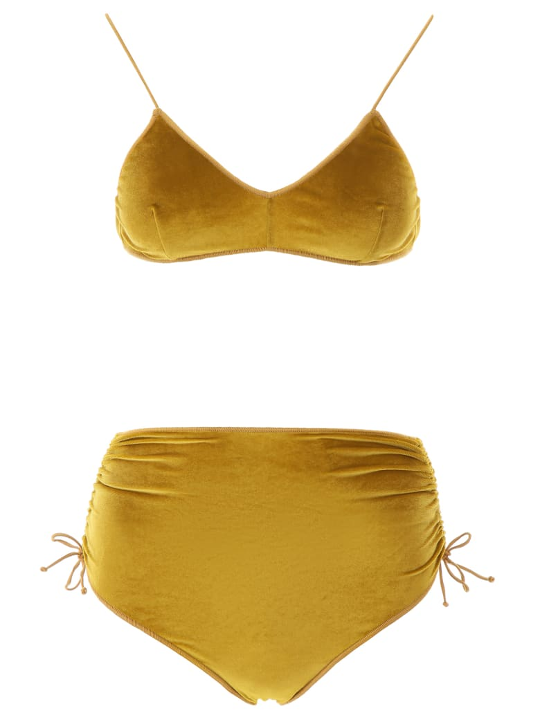 Oseree High-waisted Bikini - OCRA (Yellow)