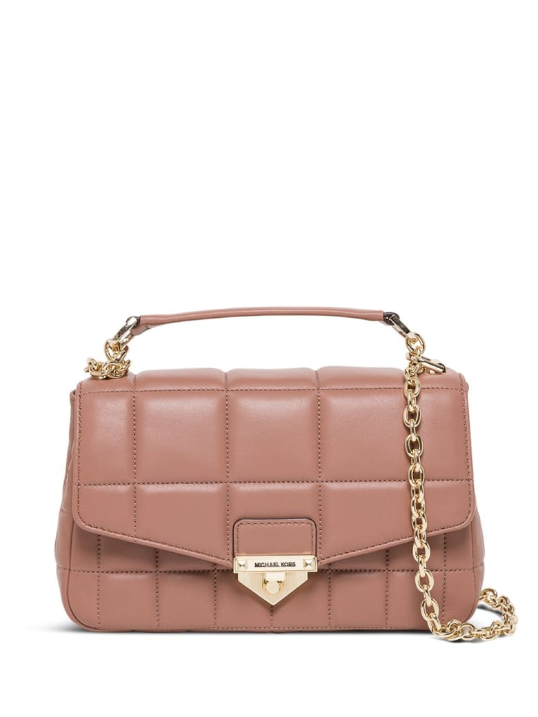 MICHAEL Michael Kors Soho Crossbody Bag In Quilted Leather - Beige