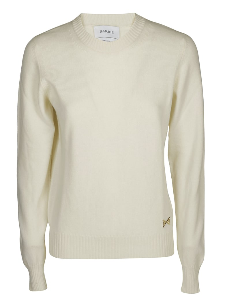 Barrie Crew Neck Sweater - White