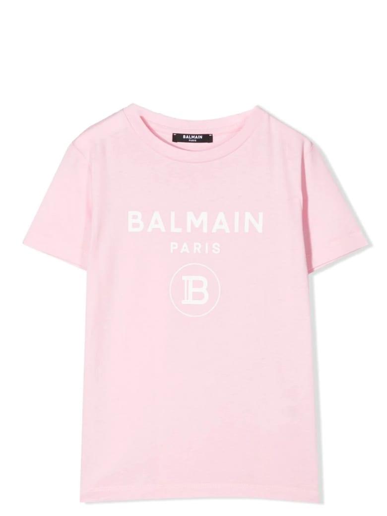 Balmain Print T-shirt - Rosa-bianco
