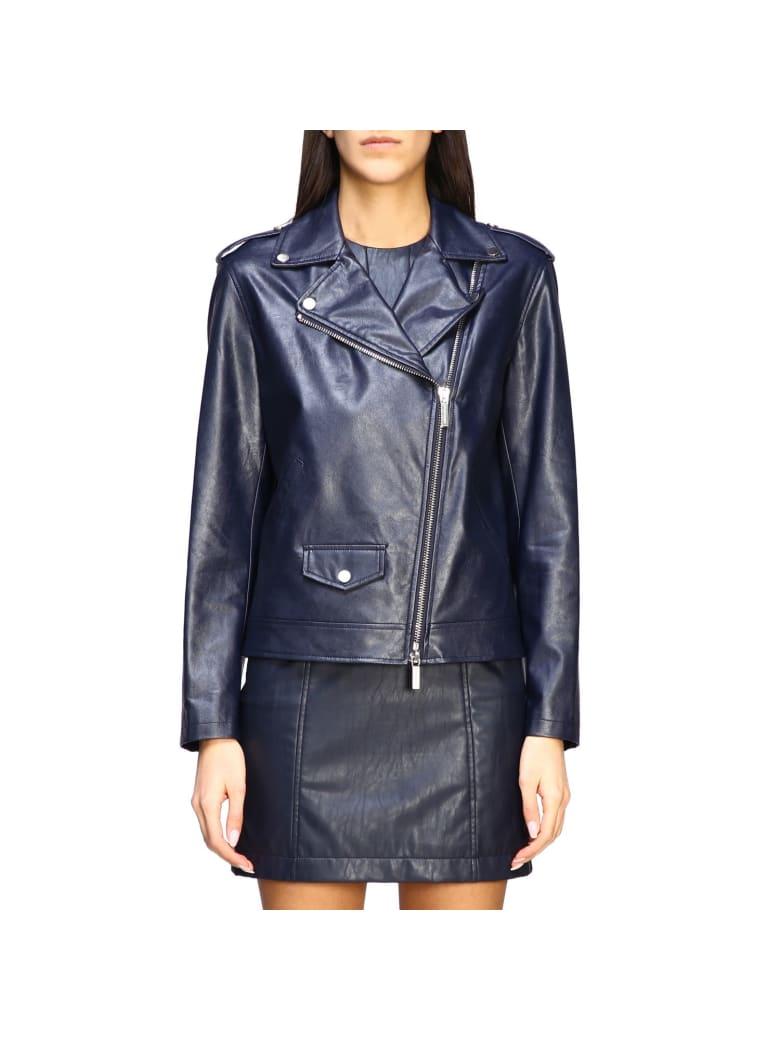 Armani Collezioni Armani Exchange Jacket Armani Exchange Nail In Synthetic Leather - blue