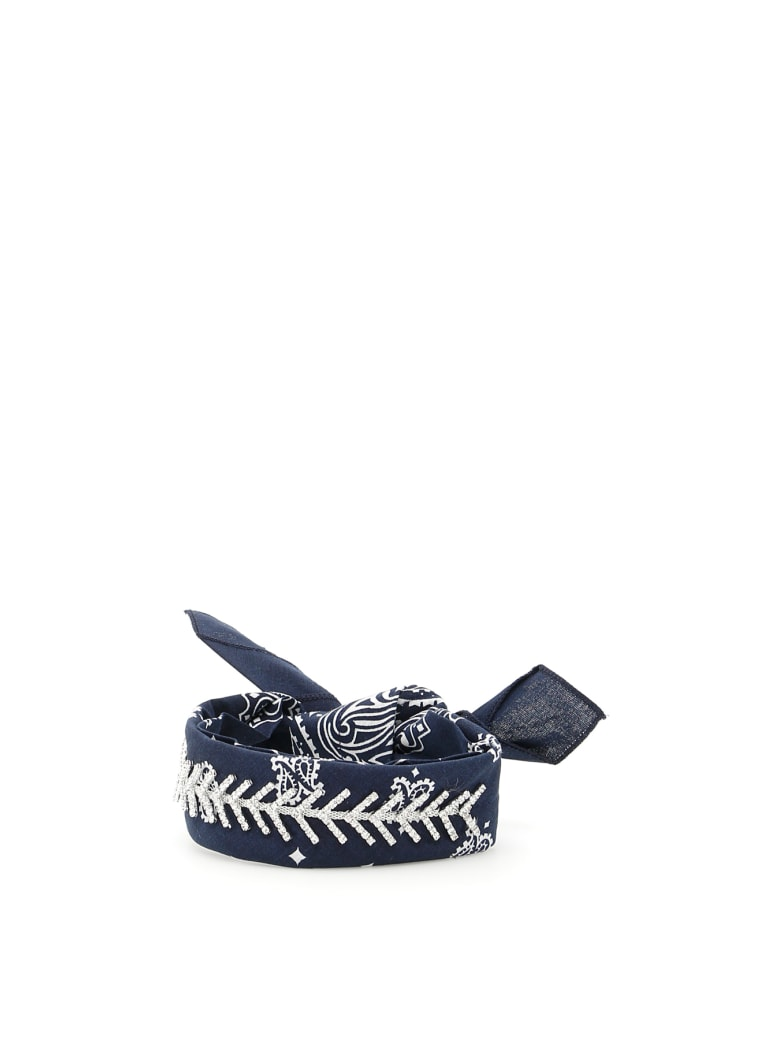 Fallon Monarch Diamante Choker - NAVY (Blue)