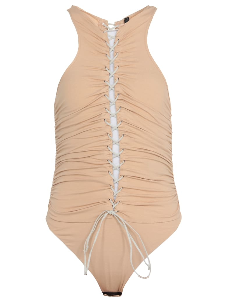 Ben Taverniti Unravel Project Draping Bodysuit - NUDE NO CO