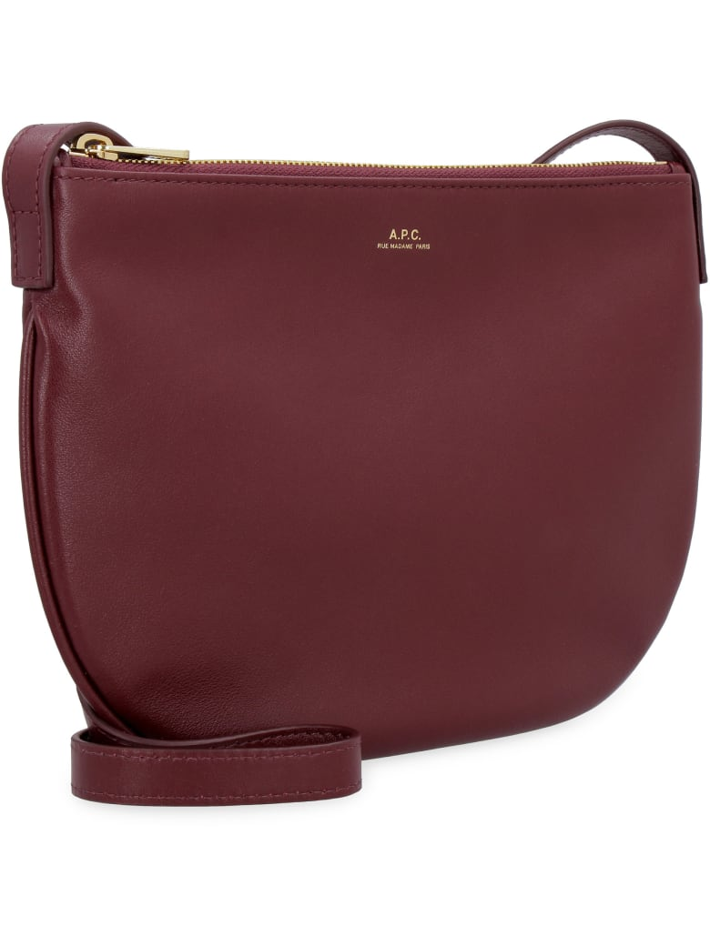 A.P.C. Maelys Leather Crossbody Bag - RED