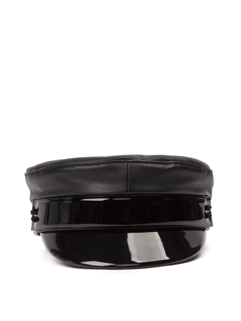 Ruslan Baginskiy Black Leather Ruslan Baginskiy Hat - Black