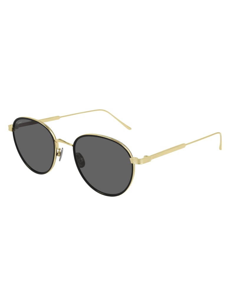 Cartier Eyewear CT0250S Sunglasses - Gold Gold Grey