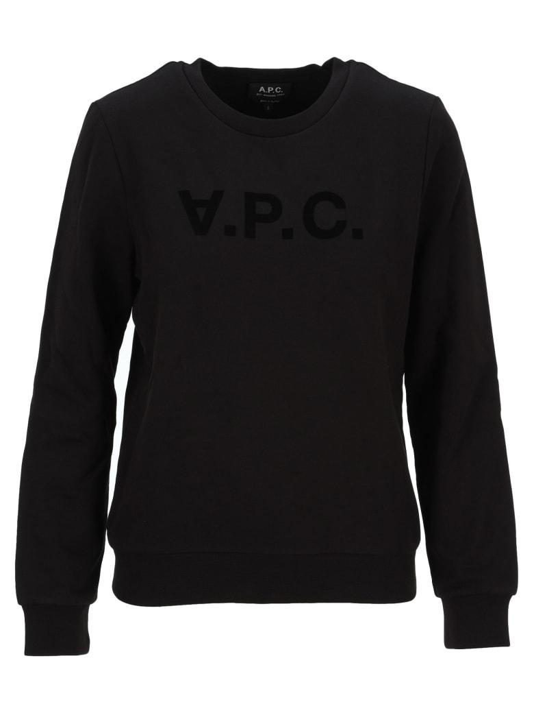 A.P.C. Logo Reverse Sweatshirt - BLACK