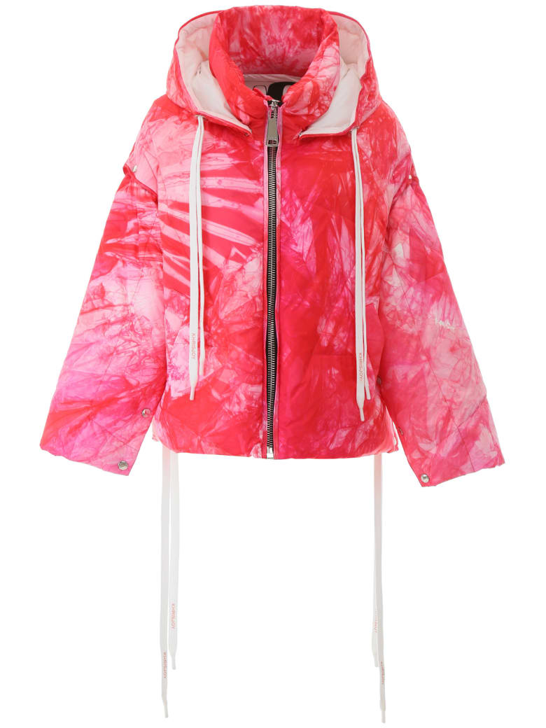 Khrisjoy Khris Puffer Jacket With Removable Sleeves - FUXIA TIE DYE (Pink)