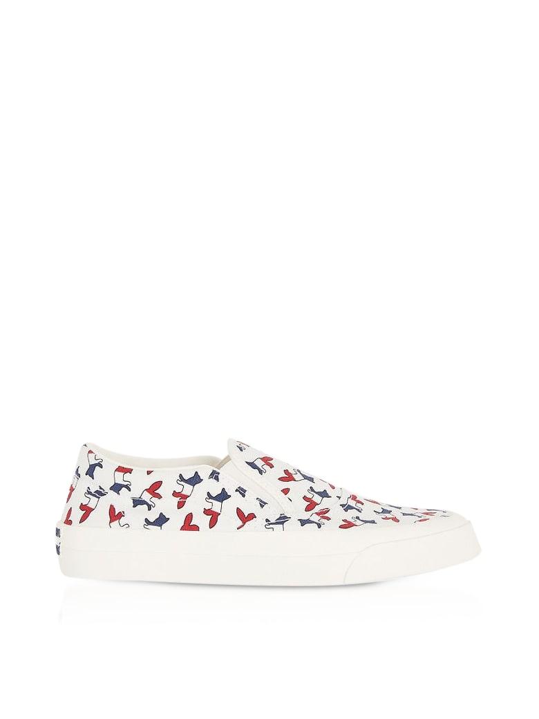 Maison Kitsuné All-over Tricolor Fox Slip-on Sneakers - Multicolor