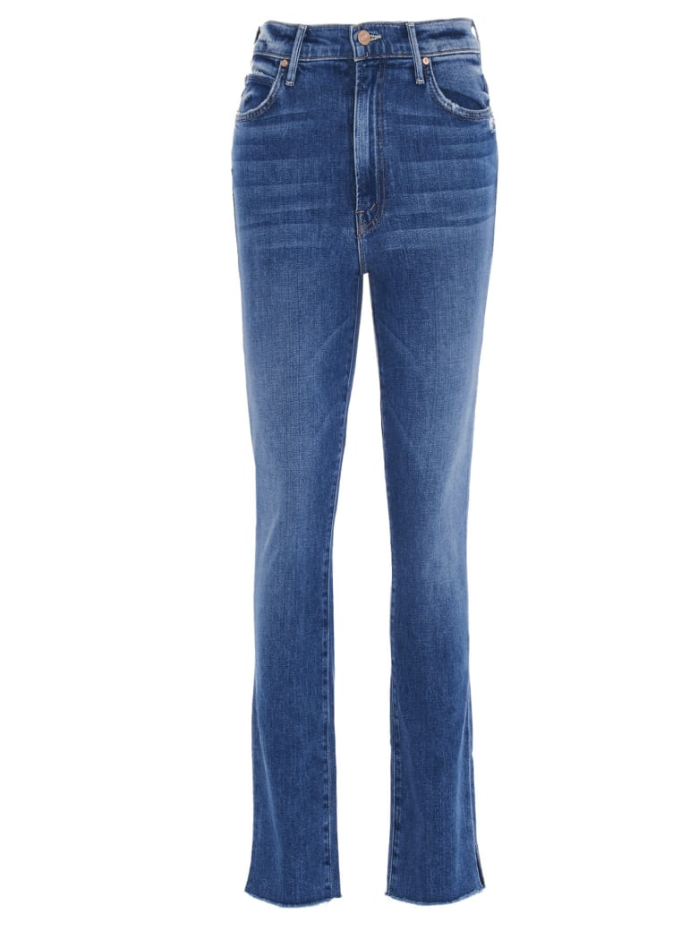 Mother 'hw Rascal Ankle Fray' Jeans - Blue